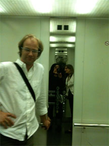 Norbert Schnell in the IRCAM Elevator
