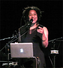 Pamela Z performing Unknown Person