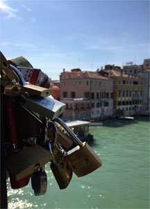 Love Locks on the Ponte dell'Accademia