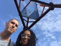 Philip Blackburn and Pamela Z with Giant Kaleidoscope