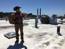 Luciano Chessa on the roof